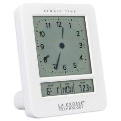 La Crosse Technology - Atomic Digital Analog Alarm Clock - Color: White - NEW!
