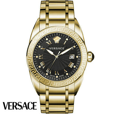 Versace VFE160017 V-Sport II black gold Stainless Steel Men's Watch NEW