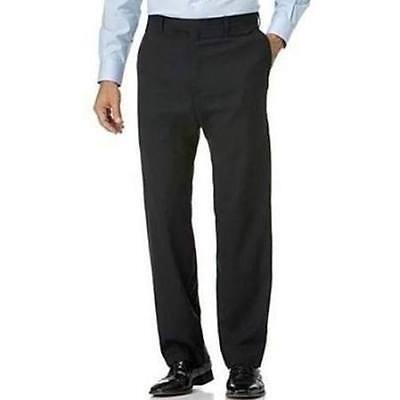 NWT! $98 KIRKLAND WOOL FLAT  FRONT DRESS PANTS CHARCOAL GRAY-38x32