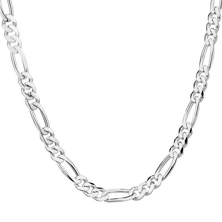 silver 2mm Figaro chain