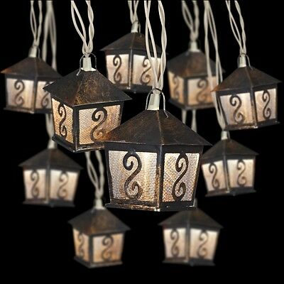 HANGING LIGHT STRING - METAL LANTERNS - Lighted Lanterns