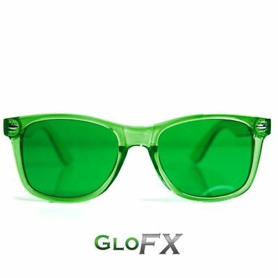 GloFX Green Color Therapy Glasses Tinted Lenses Sunglasses w/ UV400 (Color Tinted Sunglasses)