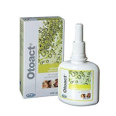 Otoact Ml.100 ICF Detergente Auricolare per Cani e Gatti Orecchie Pulizia Cerume