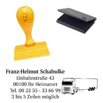 Adressenstempel « TRUCK LKW » mit Kissen - Firmenstempel für Spediteure