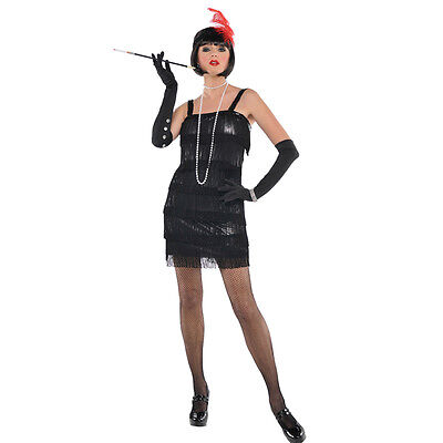 CLEARANCE SALE ADULT SEXY LADIES 1920'S CHARLESTON FLAPPER FANCY DRESS COSTUME