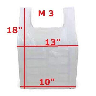 1000 x Blue Plastic Vest Style Carrier Bags M3 10