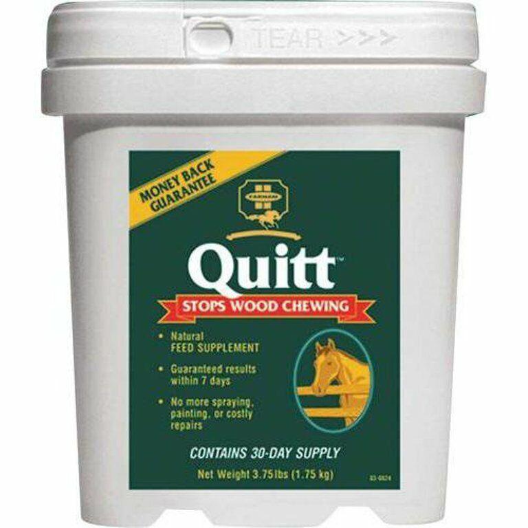 Farnam Quitt Supplement Equine Horse Stops Wood Chewing