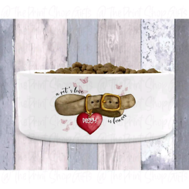 Pet Collar Personalised Food Bowl – 6 Colours