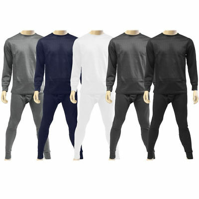 (Mens 2 pc Thermal Underwear Set Long Johns Waffle Knit Top Bottom S M L XL 2X 3X)