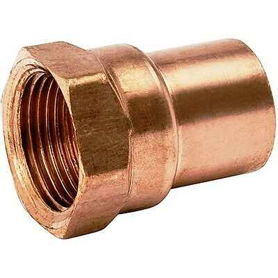 """(Bag of 25) 1/2"""" Copper Female Adapter Sweat Solder Joint C x FIP"""
