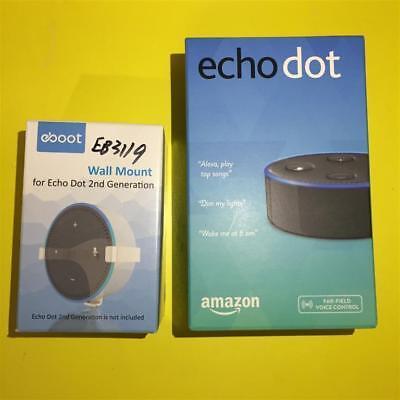 Nera Amazon Eco Pois 2nd Wireless Intelligente Altoparlante Alexa + Staffa a