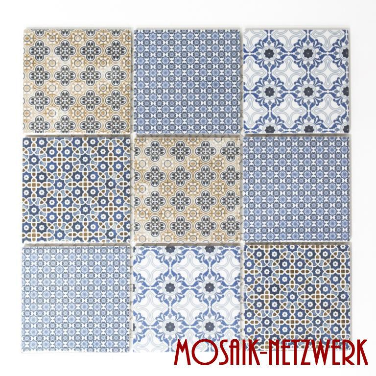 Mosaikfliese Keramik Spritzschutz Fliesenspiegel Vintage Retro 22B-1404_b 1Matte