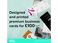 250 designed and printed premium business cards for only £100