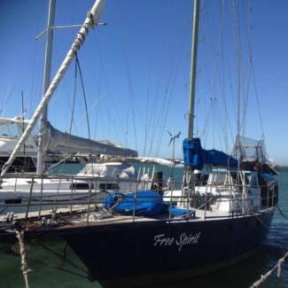 Cutter Rig Yacht with Wheelhouse