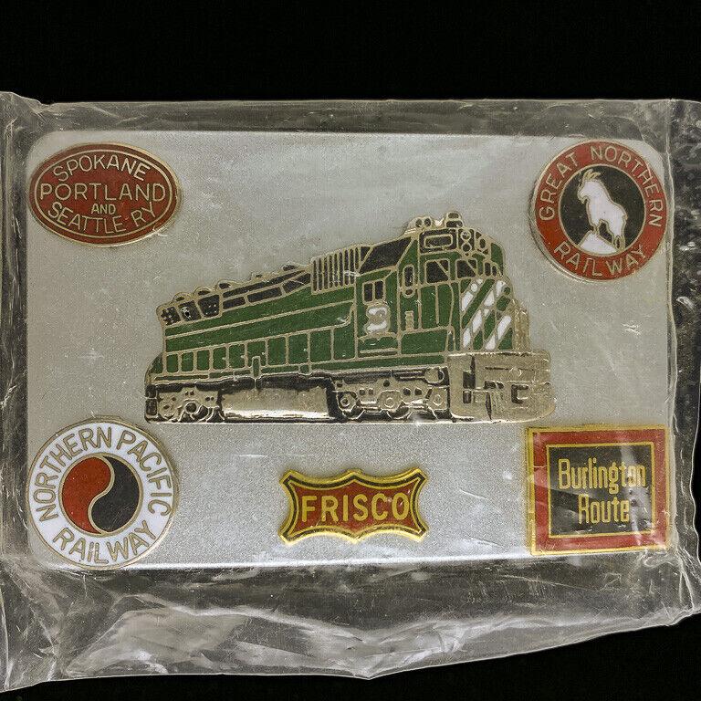 Burlington Northern NPRR Great Train Railroad BN Gift NOS Vintage Belt Buckle