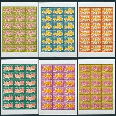 PAPUA 2005 FRANGIPANI Flowers MNH Sheets x 6(108 Stamps)Cat.200+Pounds(Pap110)