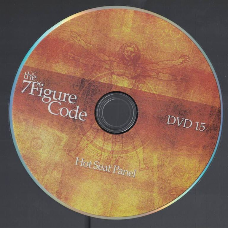 The 7 Figure Code Set Internet Marketing Hot Seat Panel DVD No 15 - $9.89