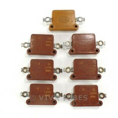 Vintage Lot Of 7 Mallorysangamo Type H Flat Mica Capacitors 0.01uf 600v