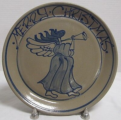 Beaumont Brothers Pottery Salt Glazed  1995 Angel Plate  Bbp