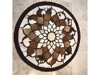"Large Cowhide Rug Patchwork Cowskin Carpet 1.2M width or 120cm or 47"""