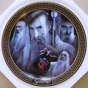 Lord of the Rings Collector Plate of Saruman from Cards Inc. Characters