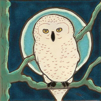 Ceramic Tile Snowy Owl wall decor hot plate backsplash installation mural -