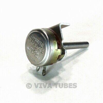 Vintage Ohmite Cu-5011 Type Ab Potentiometer 500 Ohm