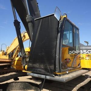 HEAVY EQUIPMENT TRANSPORTATION GLASS PROTECTION window blinds