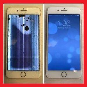 Repair Crack Broken LCD Screens Iphone 5/5C/5S/6/7/8 models- $29
