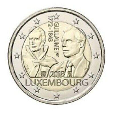 Luxemburg  2018  2 euro comm. 175 jaar Groothertog Guillaume UNC uit de rol  !!!