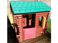 LittleTikes Plastic Log Cabin Playhouse