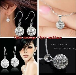 wholesale Fashion Jewellery Solid Silver S925 Lady Sets Earrings/Necklace & Box