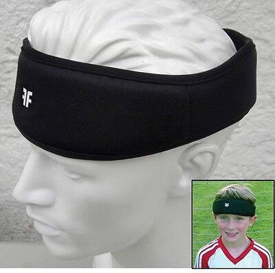 Forcefield Ultra Protective Headband Impact Reduction Head Gear Soccer Black