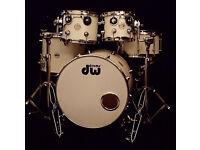 Drum Workshop / DW Mini Pro Style 18/8/10/14 Set up w/DW Lifter VVGC Matte White