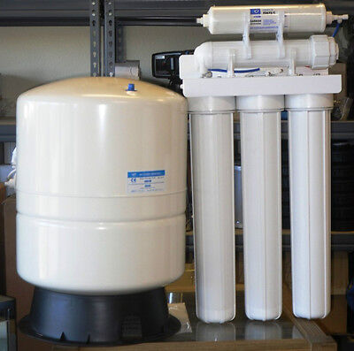 """LIGHT COMMERCIAL REVERSE OSMOSIS WATER SYSTEM 150 GPD 14 GALLON TANK 20"""" FILTER"""