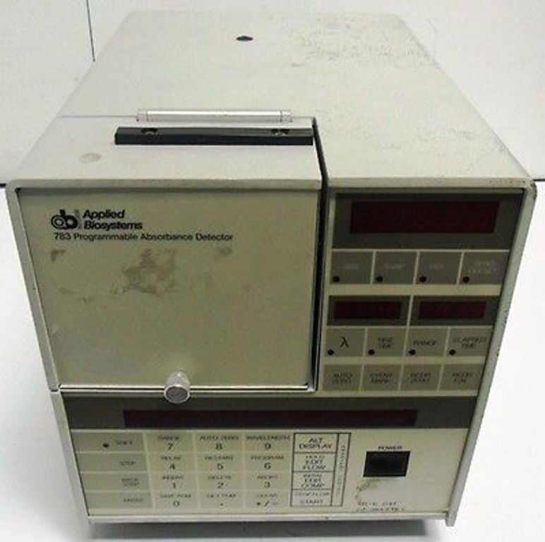 AB APPLIED BIOSYSTEMS PROGRAMMABLE ABSORBANCE DETECTOR 783-G 783G LAB