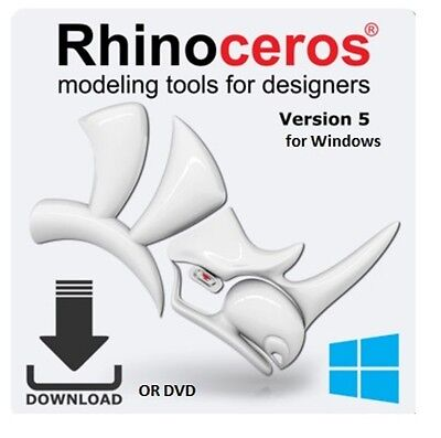 Rhino 5.0 Edu by McNeel - Academic License for PC - Rhino 3D R50E with free R60E Free 3d Software