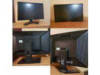 "4 x untested monitors excellent condition, ""Spare or repair"" Dells + LG led, No power cables"