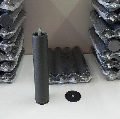 Pack 6 patas de somier cilindricas metalicas con rosca. Env?o urgente.