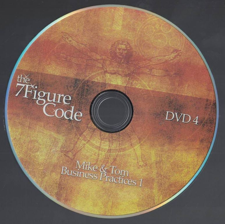 The 7 Figure Code Set Internet Marketing Business Practices One DVD No 4 - $7.42