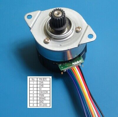 Bldc Nidec 24h Pwm Dc 12v 24v Servo Brushless Motor With Quadrature Encoder 2gt