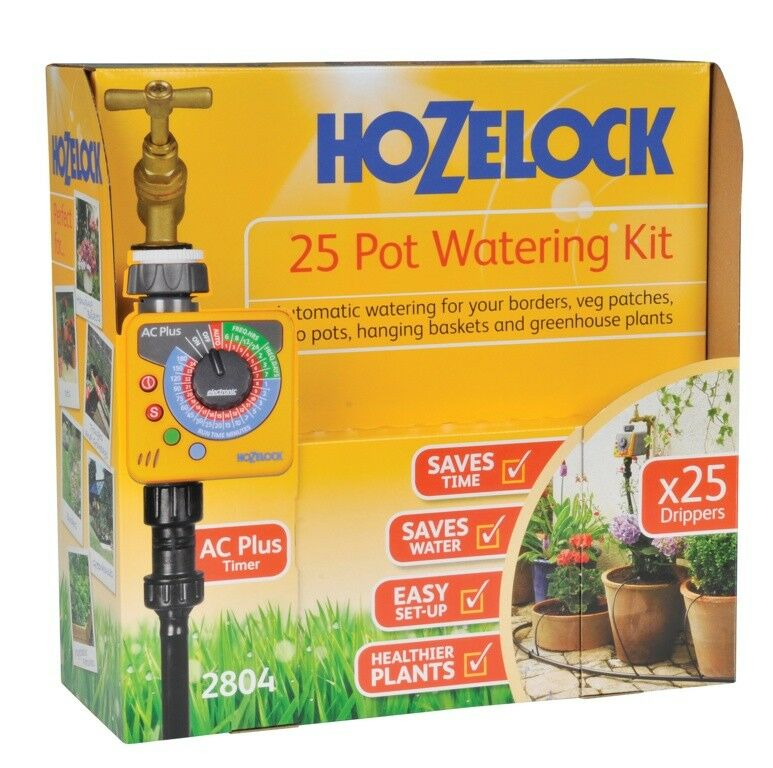 337693 Hozelock 2804 Plus Auto 25 Plant Pot Hedge Watering Kit Ac