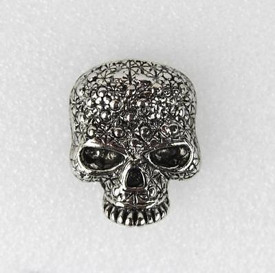 Biker Rocker Punk Bling Skull Totenkopf Schädel Totenschädel Druckknopf Knopf Skull Bling