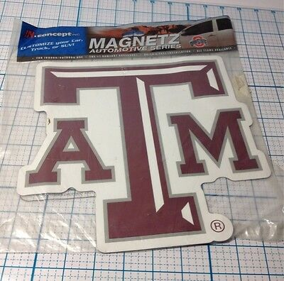 NEW TEXAS A & M A&M CAR MAGNET - MEASURES APPROX 10