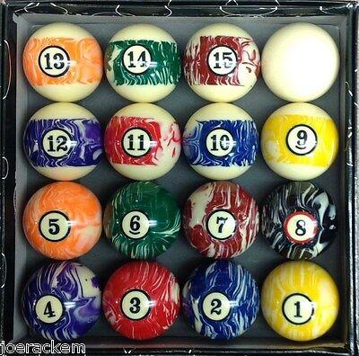New Standard Pool Ball Set -  2 1/4