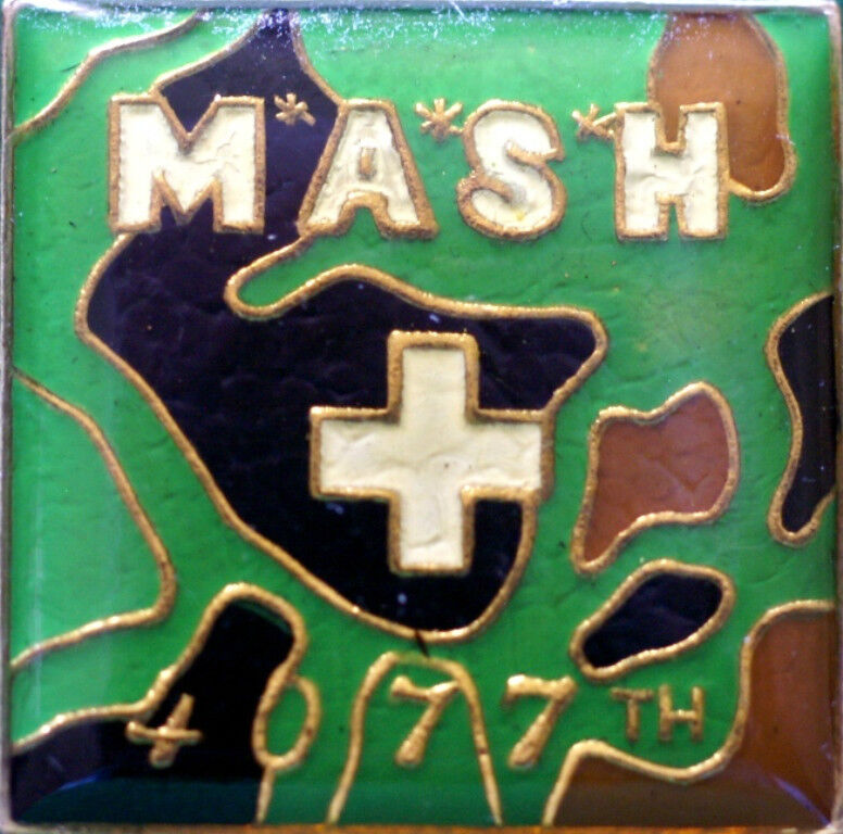 (4) MASH 4077th Hat / Lapel Pins (NEW) 100% to VFW National Home for Children