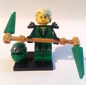 Lego-NINJAGO-Minifigure-LLOYD-ZX-The-Green-Ninja-w-TEENAGE-STYLE-HAIR-Mask