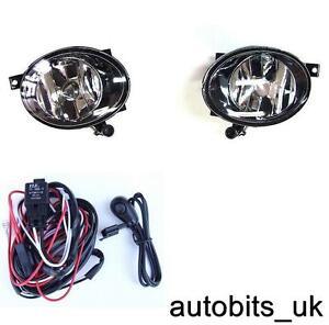 VW GOLF MK6 6 TOURAN JETTA TIGUAN CADDY FOG LIGHTS LIGHT LAMPS L & R +WIRING KIT
