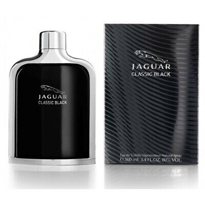 Men Jaguar Classic Black Cologne Perfume 3.4 oz 100 ml Eau De Toilette Spray
