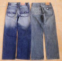 Diesel + Armani Jeans size 30/32 + two Billabong T Shirts M